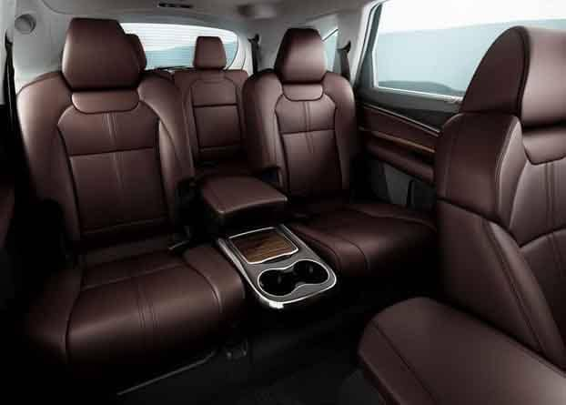2018 Acura MDX Second Row Captain Chairs