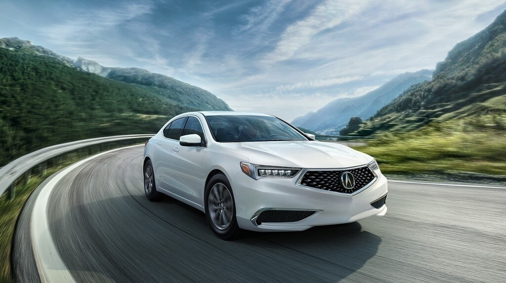 2018 Acura TLX white exterior