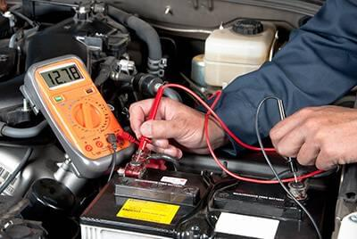 Checking a vehicle's battery