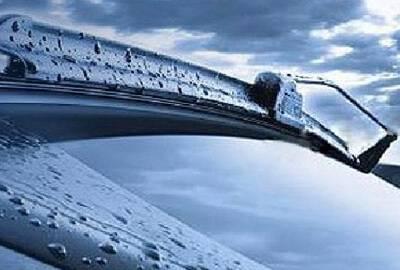 wiper blades on a car