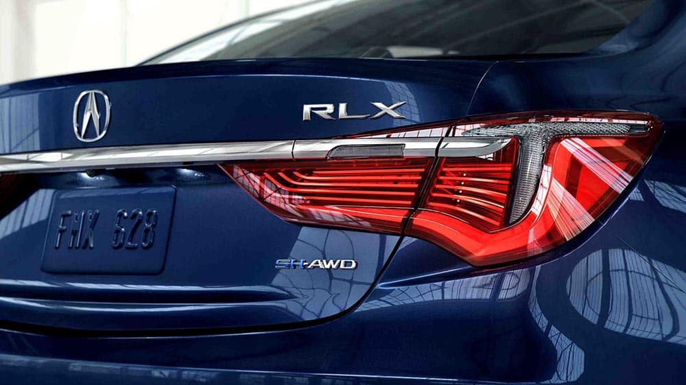 2018 Acura RLX rear view up close