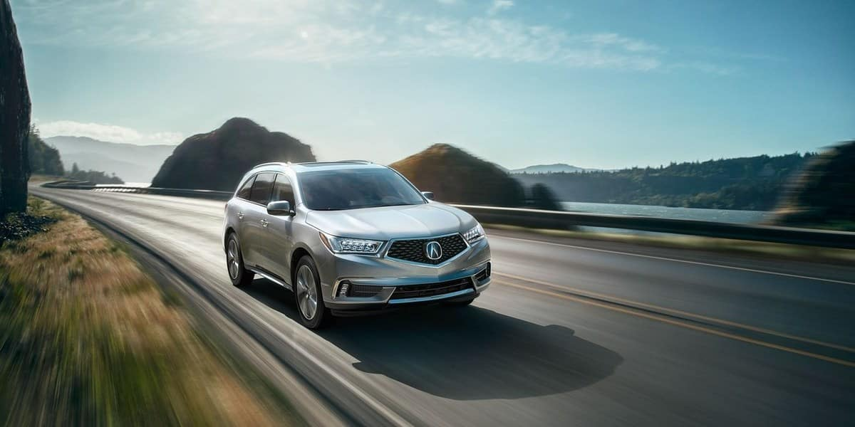 Acura MDX Driving on coastal road