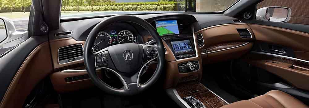 2018 Acura RLX Interior Front Seating and Dashboard