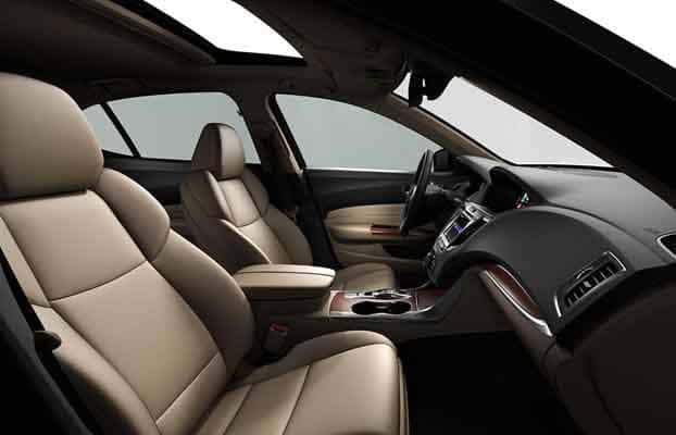 2018 Acura TLX Interior Front Seats and Dashboard Side View