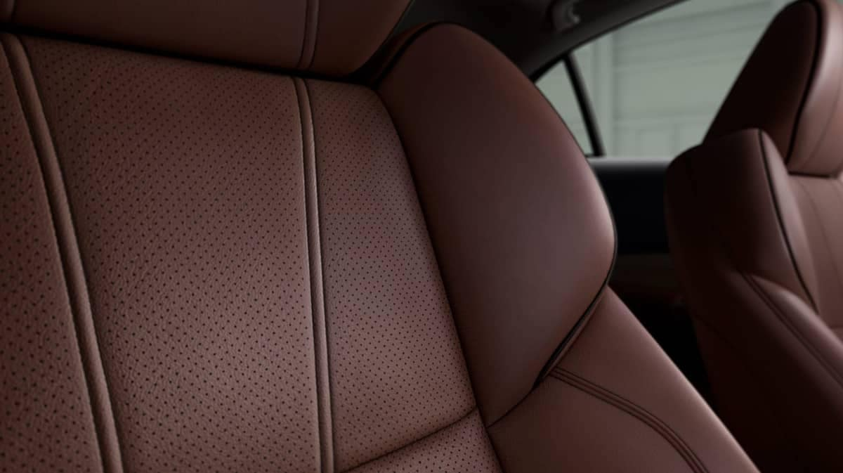 Close up of 2019 Acura TLX Perforated Milano Leather Seats