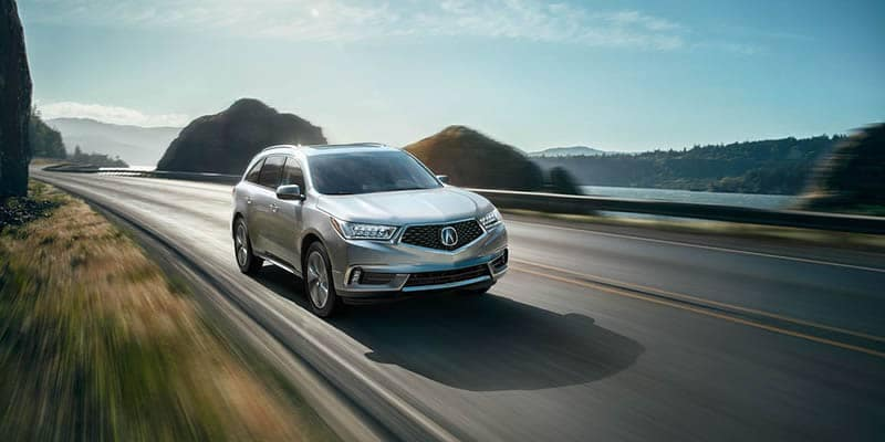2018 Acura MDX Driving by Waterfront
