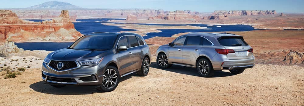 2019 Acura MDX Models Parked in Desert