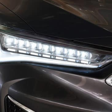2019 Acura ILX headlight up close
