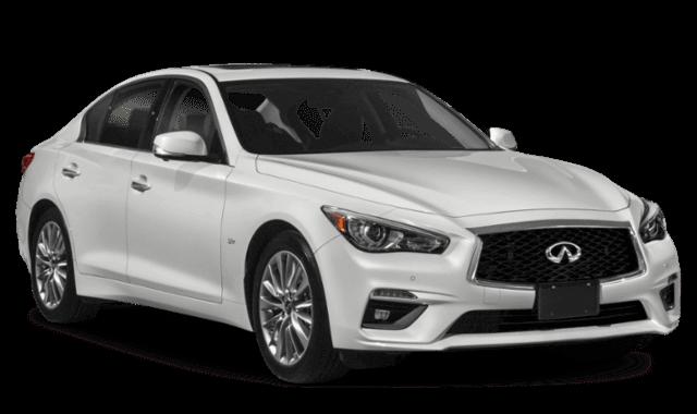 2019 INFINITI Q50 White Car