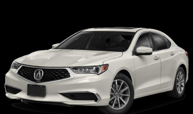 acur tlx white sedan