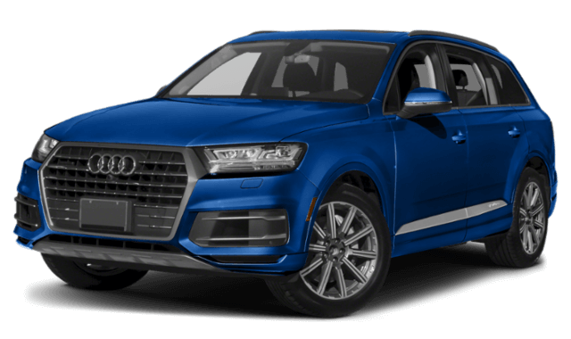 2019 Audi Q7 blue SUV