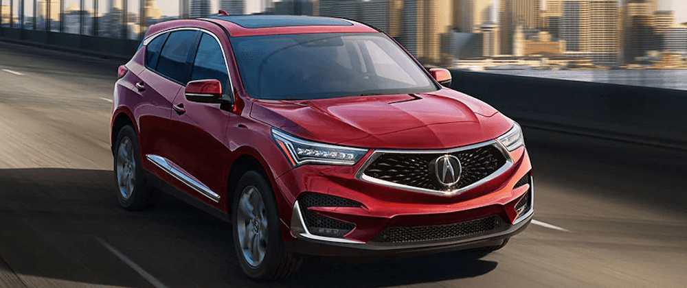2020 acura mdx driving on highway