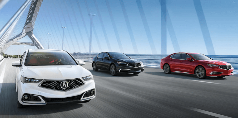 2020 Acura TLX Technology Package and A-Spec package on highway