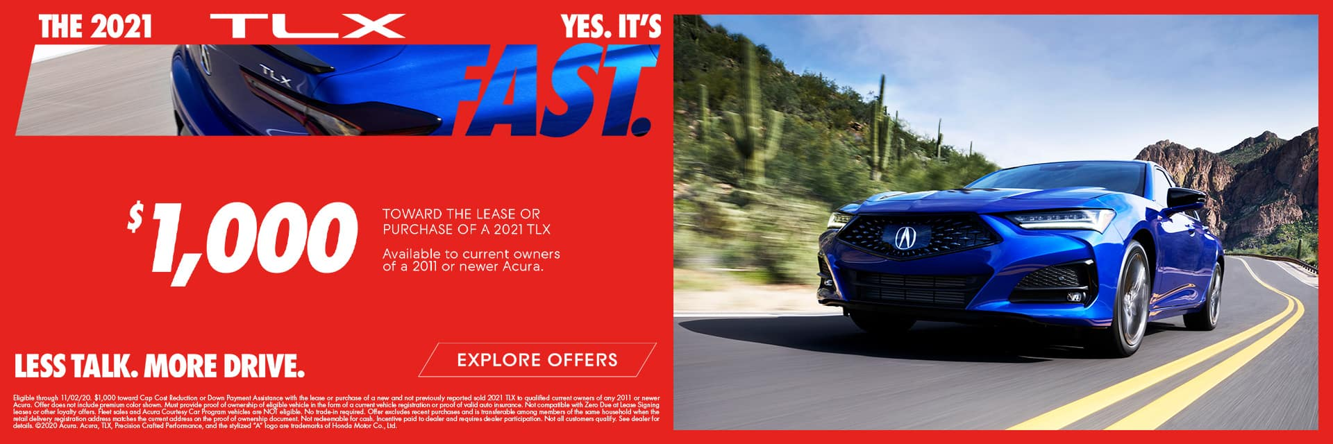 Acura 2021 TLX Loyalty Offer