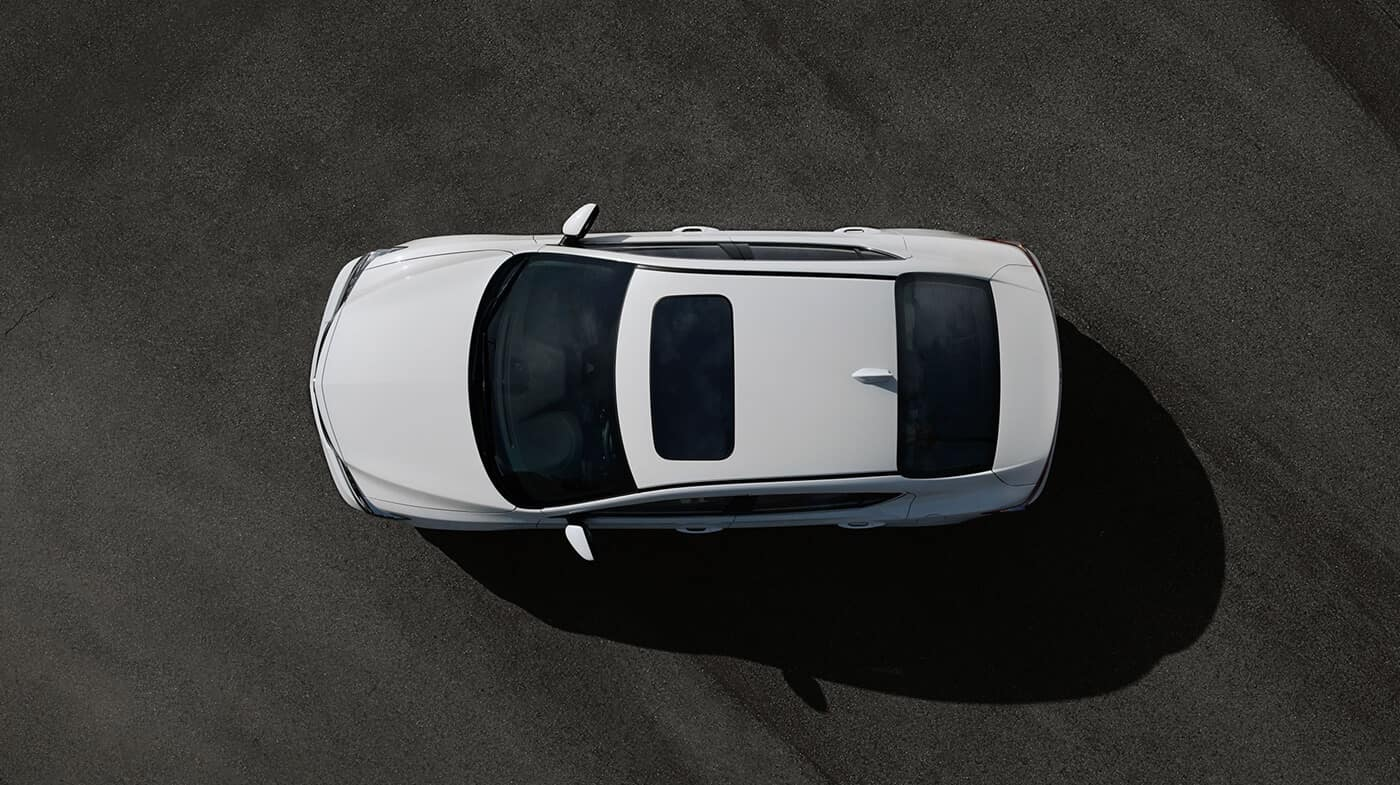2018 Acura ILX parked top view looking down