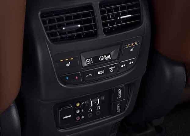 2018 Acura MDX Second Row Center Console
