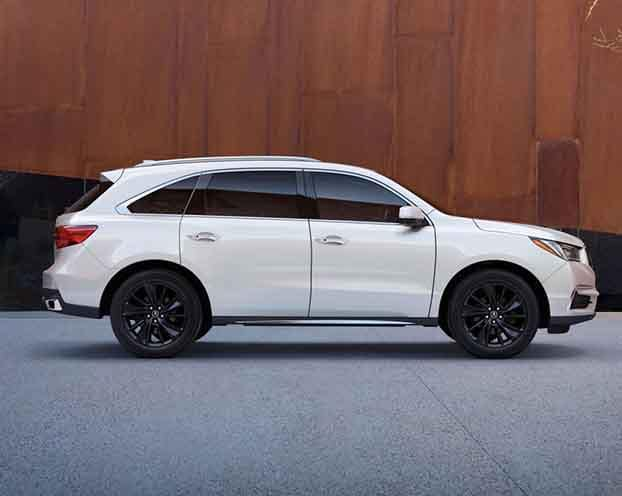 White 2018 Acura MDX Side Profile