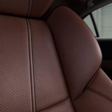 Close up of 2019 Acura TLX Perforated Milano Leather Seating