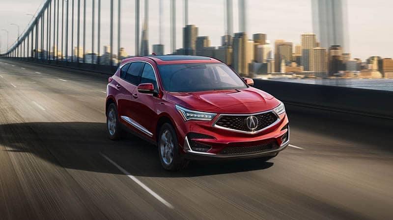 2019 Acura RDX Driving on Highway Bridge