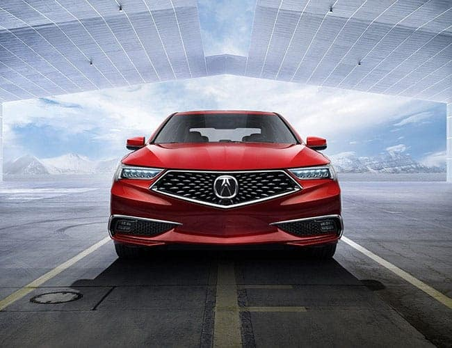 2019 Acura TLX Red Driving