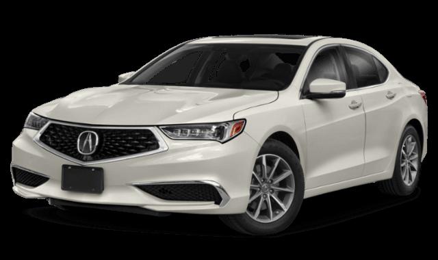 2019 Acura TLX white sedan