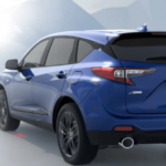 2019 Acura RDX with 27 MPG highway on mountain road