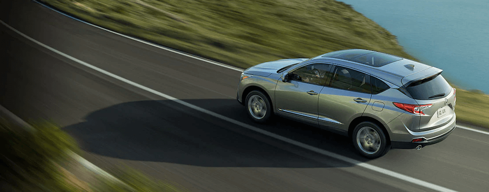 2020 acura rdx drving on rural highway