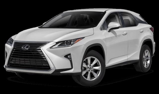 2019 Lexus RX white SUV front view