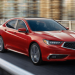 red acura tlx driving 0-60 on highway