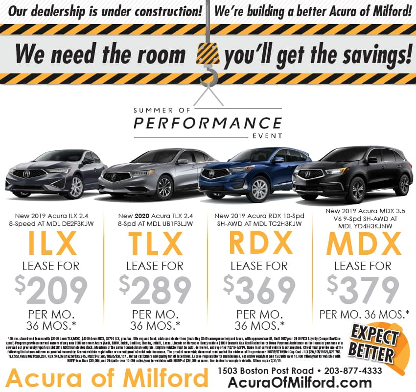 Acura Of Milford >> Weekly Ad Vehicle Lease And Sale Offers Acura Of Milford