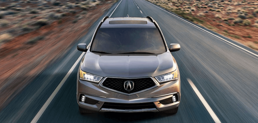 acura 2020 mdx driving on highway