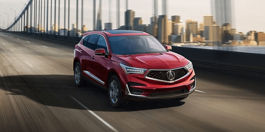 2020 Acura RDX red color on highway