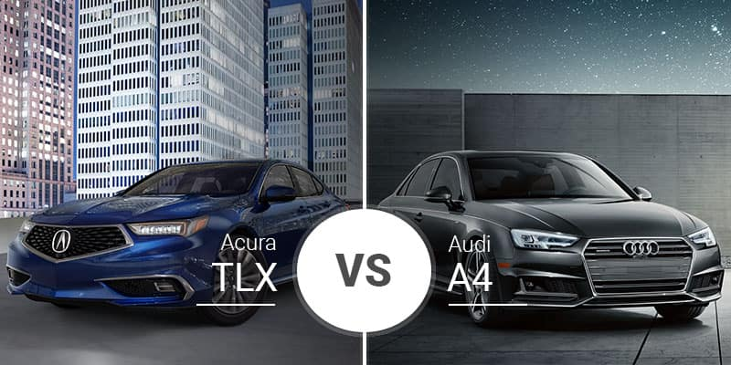 Acura Tlx Vs Audi A4 Midsize Sedans With Full Size Luxury