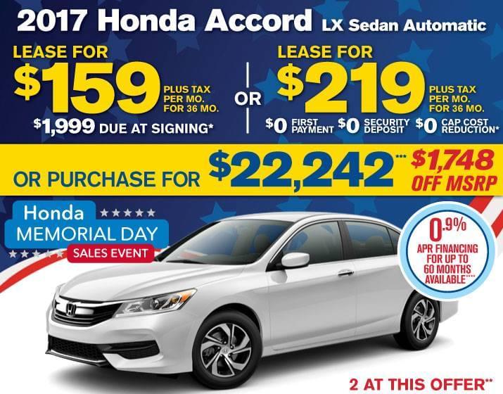 New Honda Car Specials Culver City Airport Marina Honda