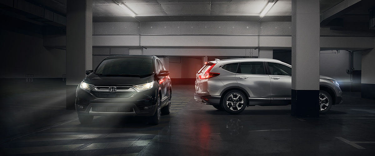 2017 honda cr-v in parking garage