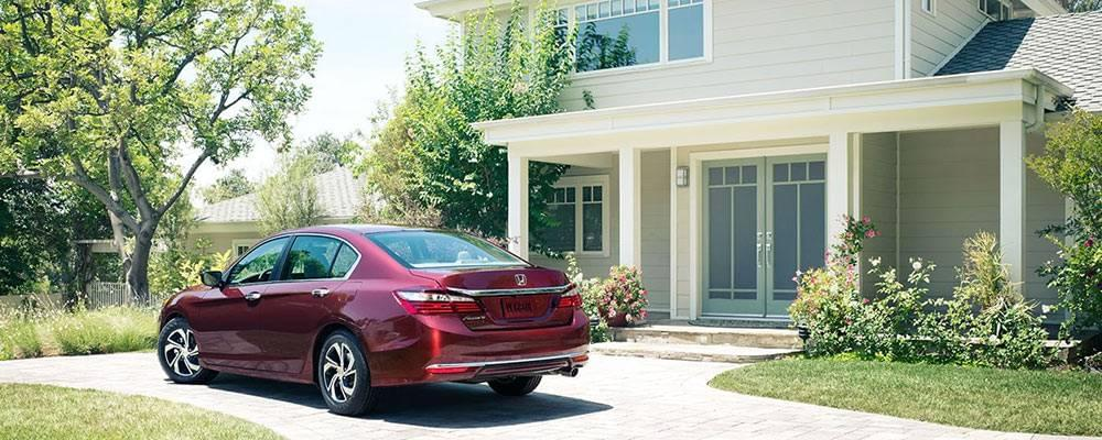 2017 Honda Accord Parked In Front Of House