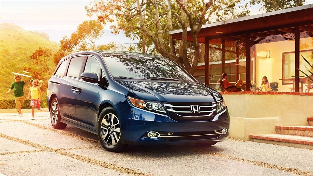 2017 Honda Odyssey Parked in front of a house