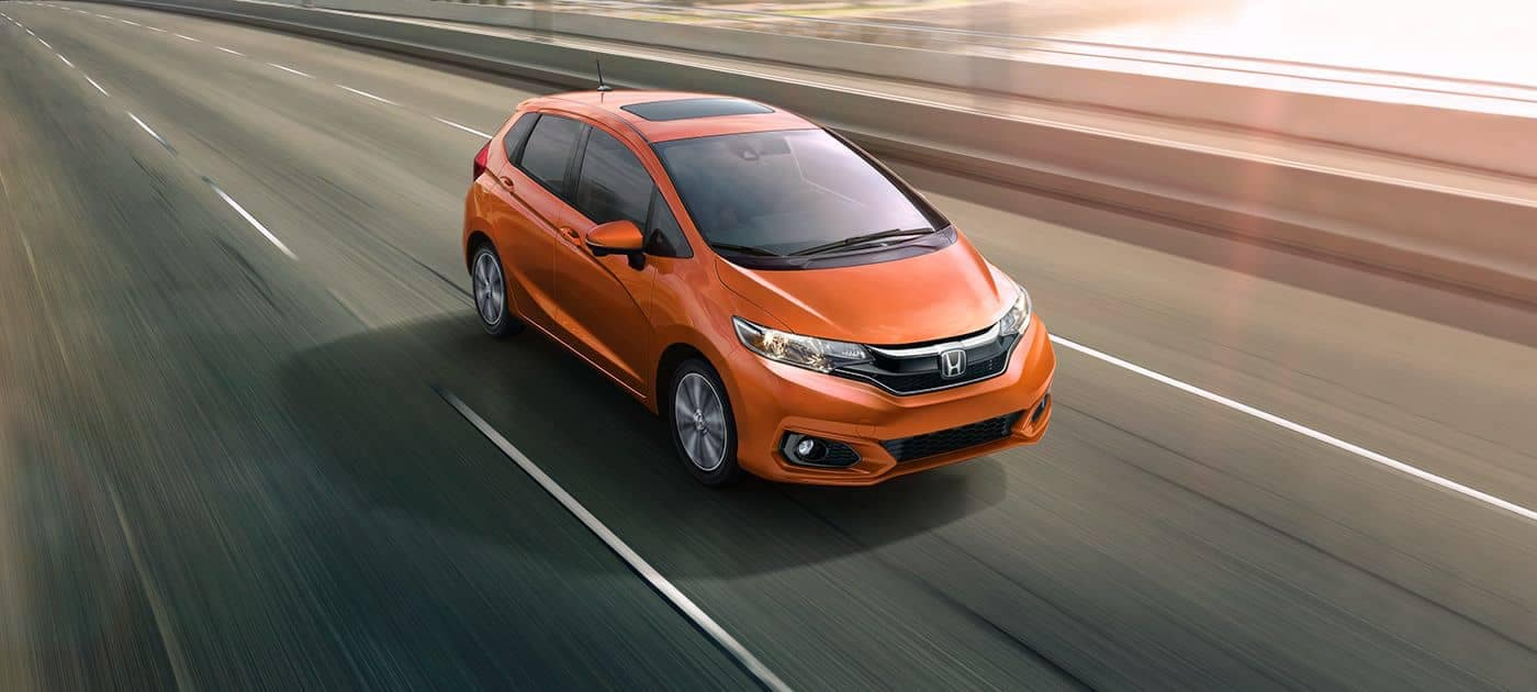 Orange Honda Fit