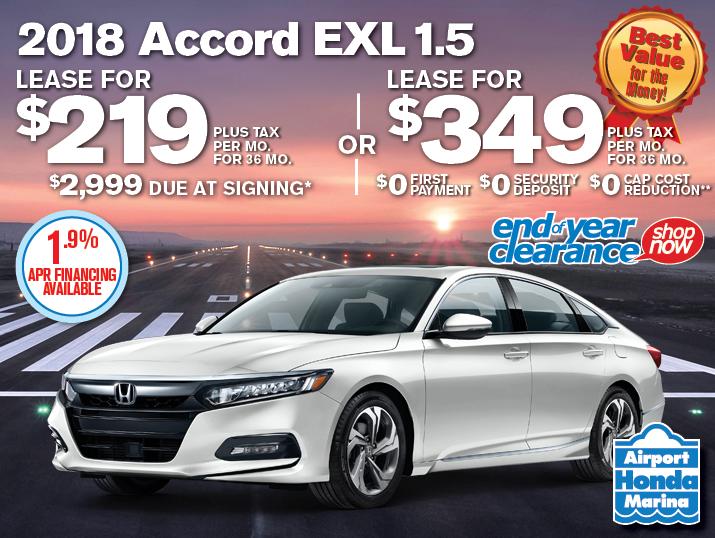 2018 Honda Accord CVT EXL 1.5 Specials