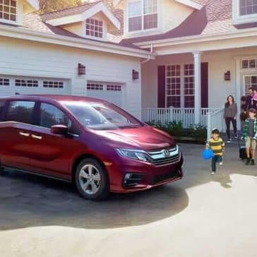 2019 Honda Odyssey parked on the driveway