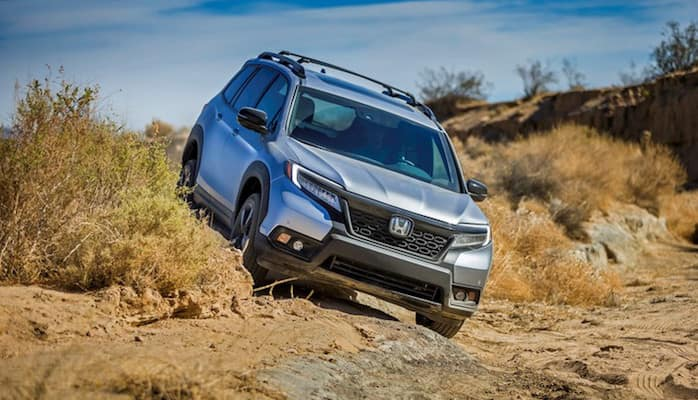 Honda Passport off-roading