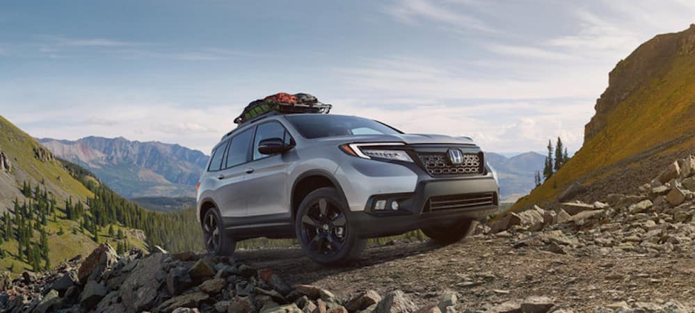 2019 Honda Passport on mountain