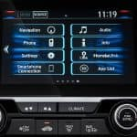 2019 Honda Civic radio close up