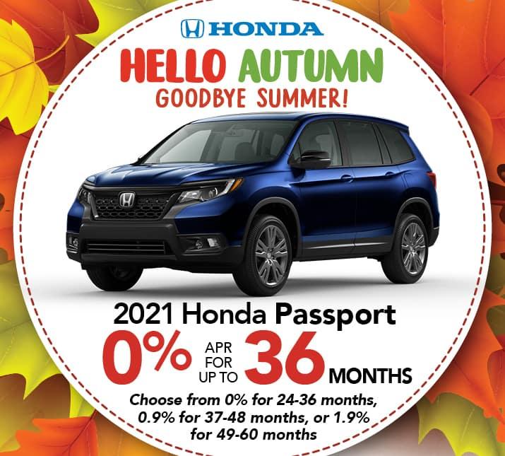 Honda Passport APR special