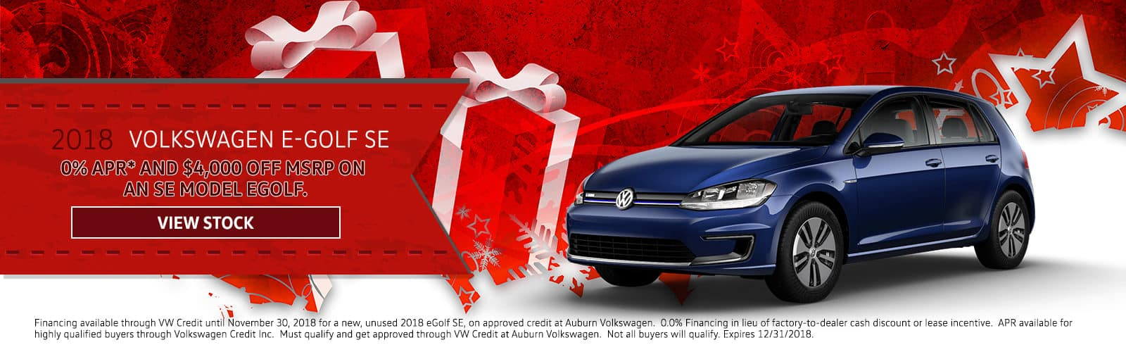 AuburnVW_Holiday_E-Golf SE December Homepage