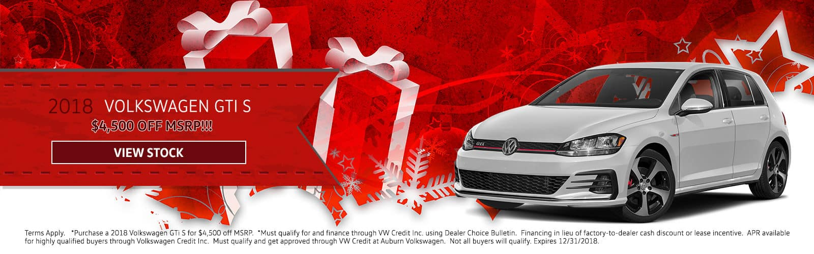 AuburnVW_Holiday_GTI S December Special Offer Homepage