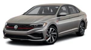 A silver 2021 Volkswagen Jetta GLI 2.0T S is angled left.