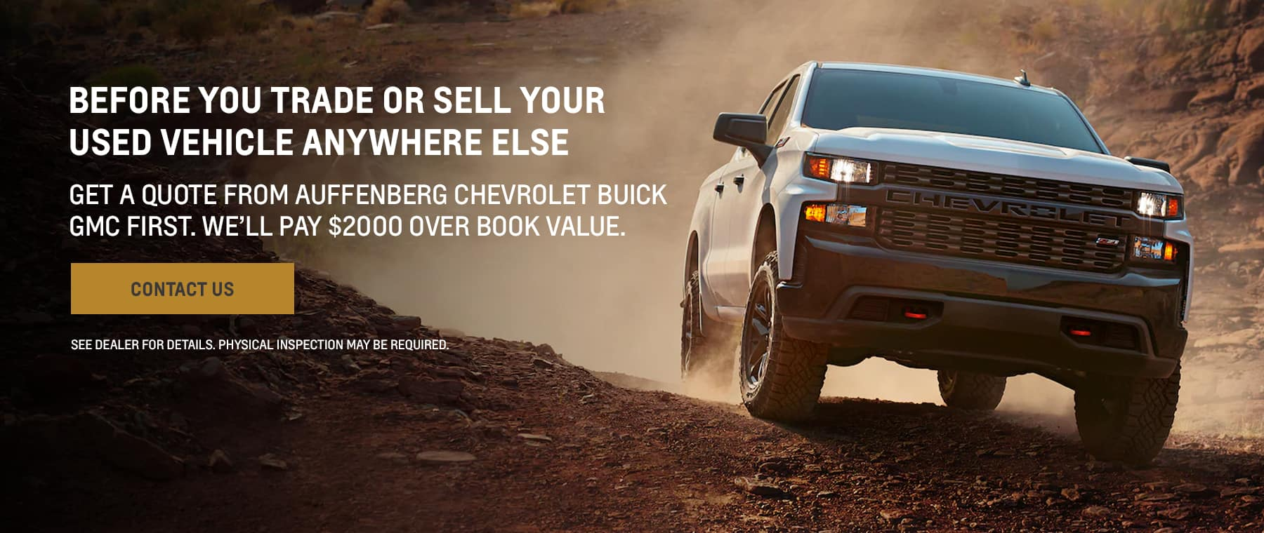 Before you trade or sell your used vehicle anywhere else