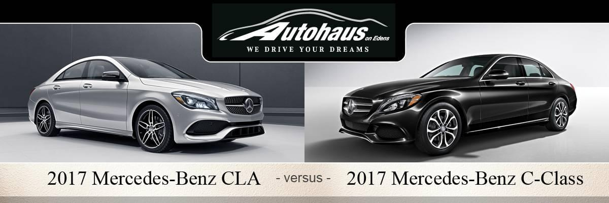 2017 mercedes benz cla vs c class coupe northbrook il. Black Bedroom Furniture Sets. Home Design Ideas