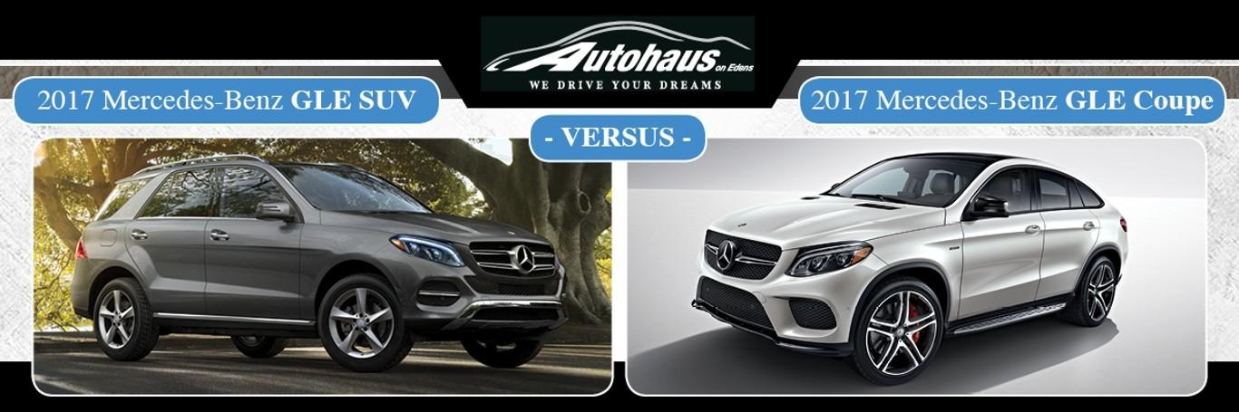 2017 GLE SUV vs. GLE Coupe